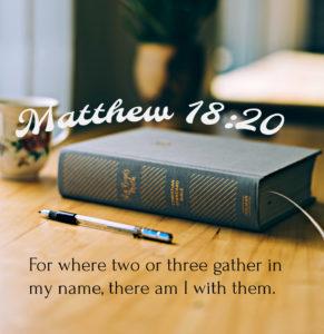 Matthew 18:20 Encouragement Verse